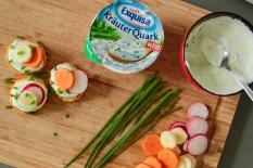 Süßkartoffel-Kräuterquark Häppchen