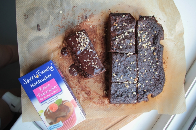 Rote Beete Kakao Brownies