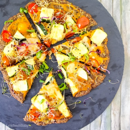 Low Carb Leinsamen Pizza